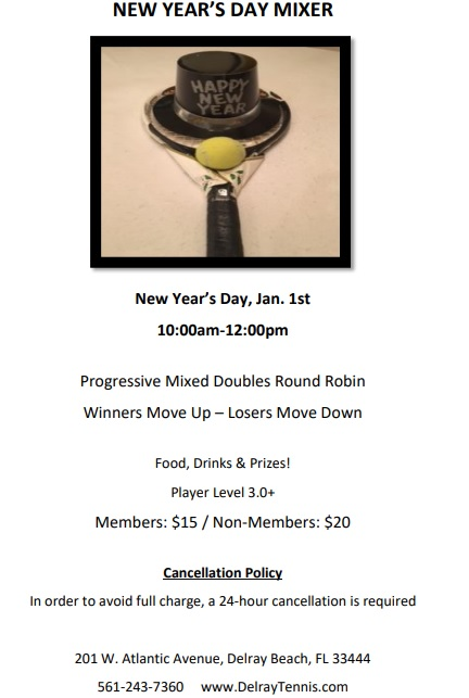 New Years Day Mixer