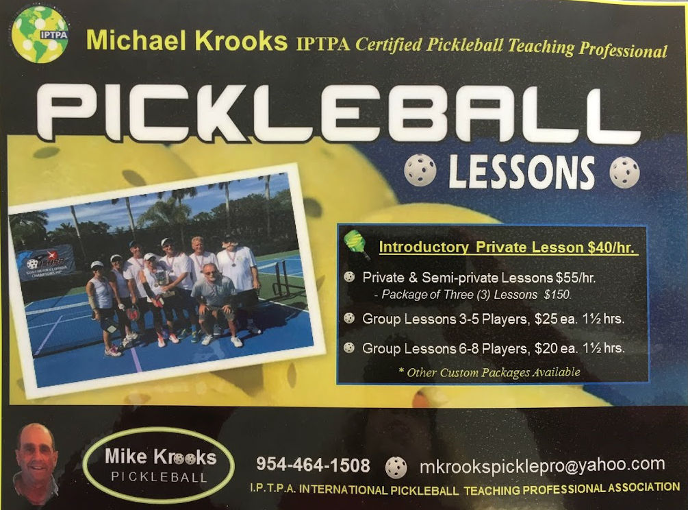 Pickleball Lessons Delray