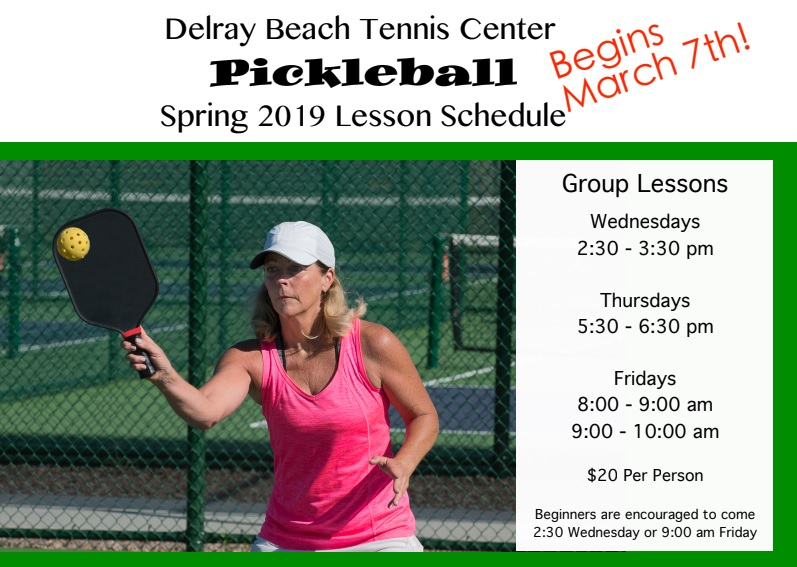 Pickleball Lessons in Delray Beach