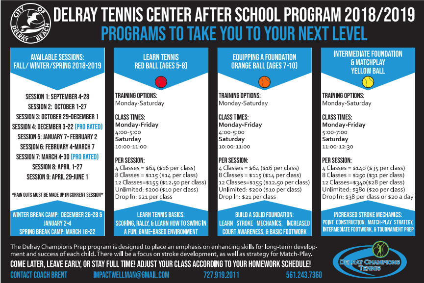 Delray Tennis Junior Program