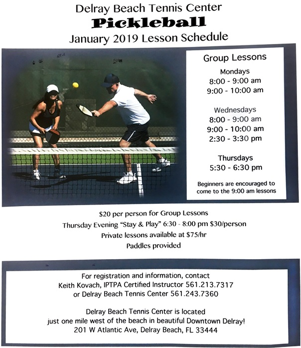 Delray Beach Pickleball Clinics