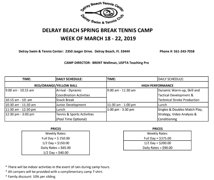 Spring Break Tennis