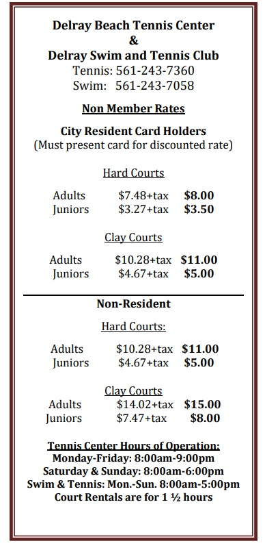 Court Fees - Prices