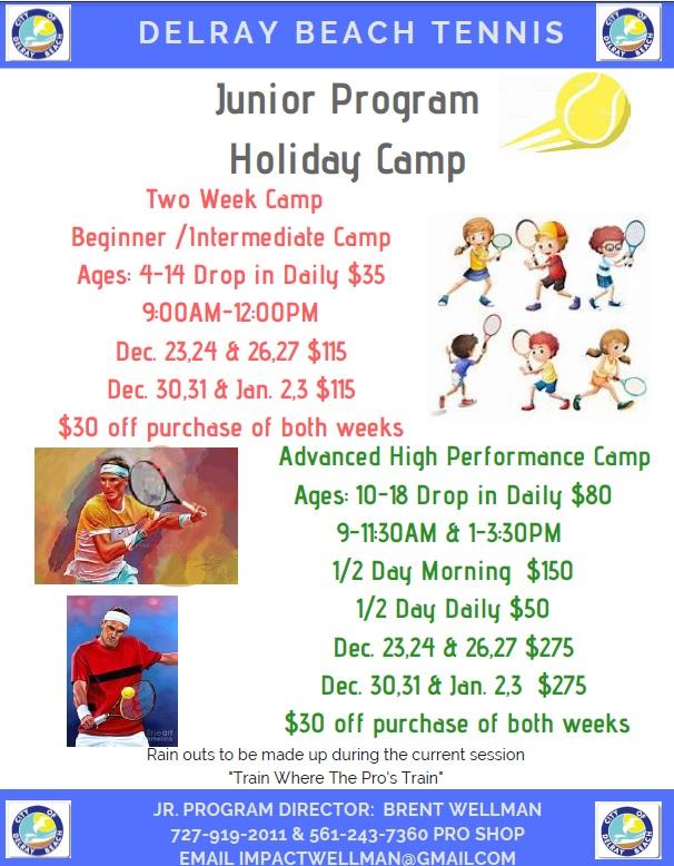 Delray Junior Tennis Camp Flyer