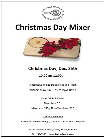 Christmase Day Tennis Mixer
