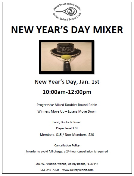 New Years Tennis Mixer