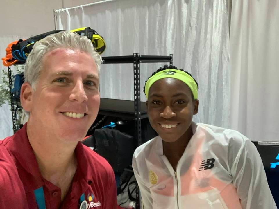 Coco Gauff with Ivan Baron