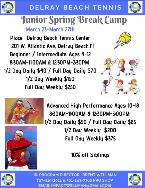 Delray Junior Tennis Camp 2020
