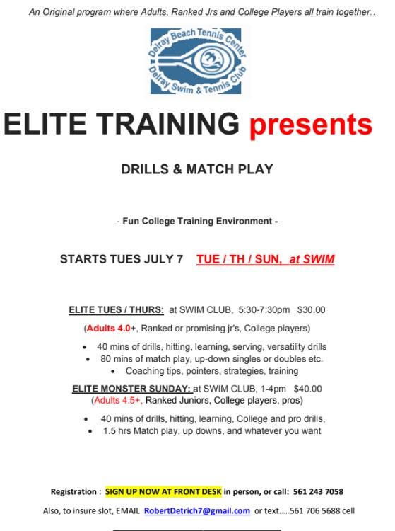 Elite Training 2020