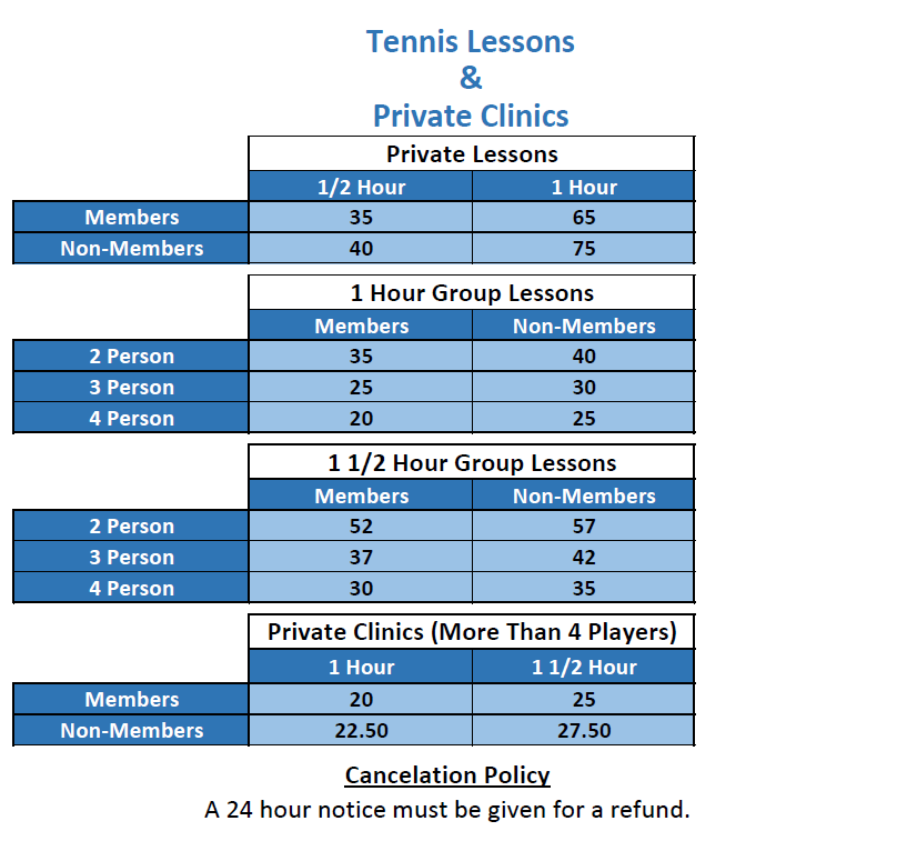 Tennis Lessons Flyer (Revised)