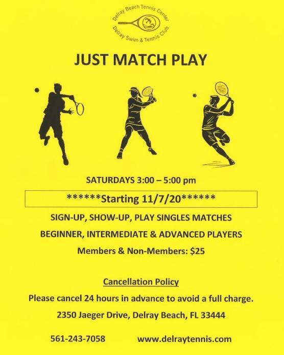Tennis Match Play