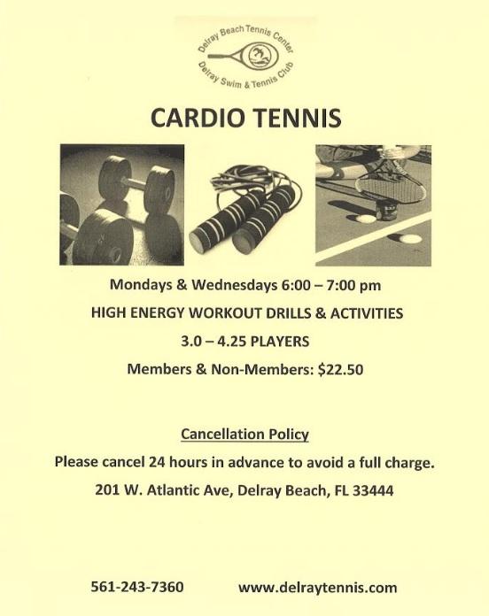 Cardio Tennis Delray NEW