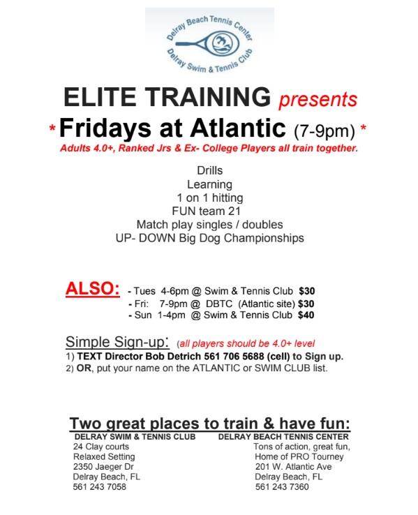 Elite Tennis Training