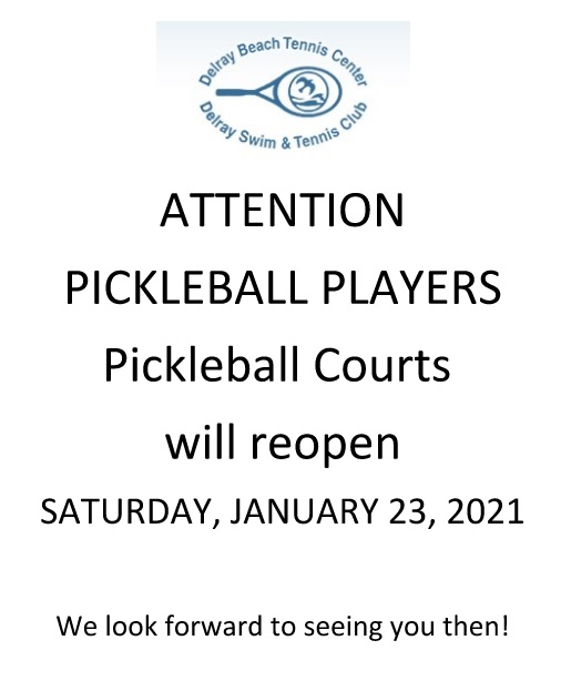Pickleball Courts Open